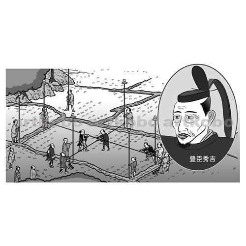 Web教材イラスト図版工房 / S_太閤検地のようす